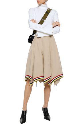 J.W.ANDERSON Grosgrain-trimmed embellished cotton-twill skirt