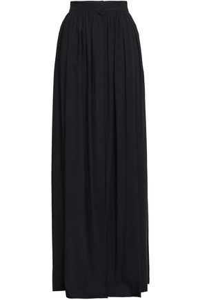 ANN DEMEULEMEESTER Gathered voile maxi skirt