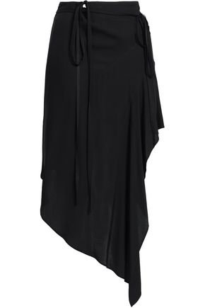 ANN DEMEULEMEESTER Asymmetric voile wrap skirt