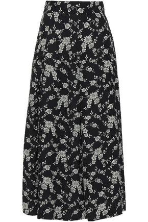 CO Floral-jacquard midi skirt