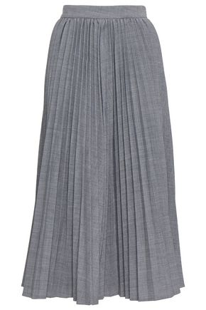 CO Fluted pleated woven midi skirt