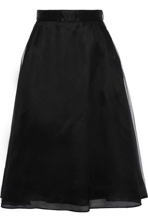 THOM BROWNE Flared lace-up tulle skirt
