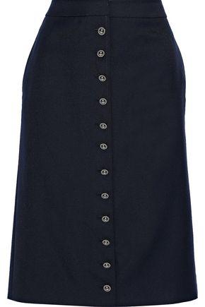 THOM BROWNE Wool-blend twill skirt