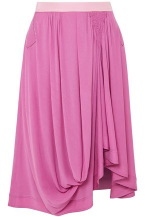 CHLOÉ Draped jersey midi skirt