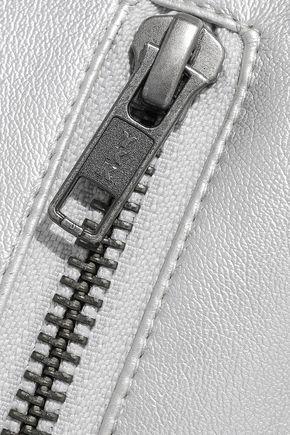 REBECCA MINKOFF Myrah metallic faux leather mini skirt
