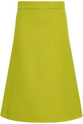 MARNI Flared wool-crepe midi skirt