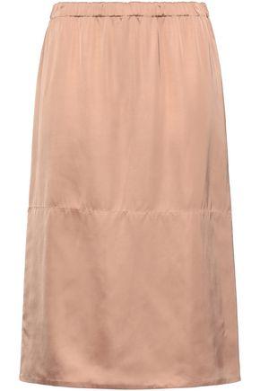MARNI Gathered satin skirt