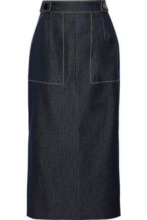 CAROLINA HERRERA Denim midi pencil skirt