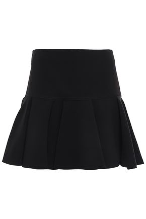 CHLOÉ Pleated crepe mini skirt