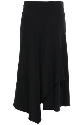 A.L.C. Wrap-effect draped crepe midi skirt