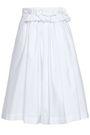 LANVIN Ruffled gathered cotton-poplin skirt