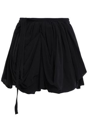 ANN DEMEULEMEESTER Georgia silk-georgette mini wrap skirt