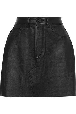 DL1961 Gilroy leather mini skirt