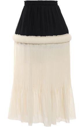 J.W.ANDERSON Pleated paneled gauze midi skirt
