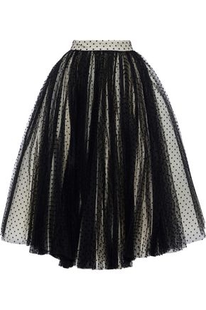 PHILOSOPHY di LORENZO SERAFINI Flocked tulle midi skirt