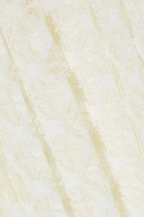 PHILOSOPHY di LORENZO SERAFINI Pleated crocheted skirt