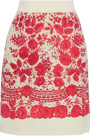 PHILOSOPHY di LORENZO SERAFINI Printed crepe de chine mini skirt
