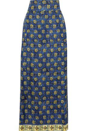 ALBERTA FERRETTI Printed silk maxi skirt
