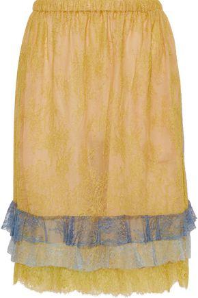 PHILOSOPHY di LORENZO SERAFINI Tiered Chantilly lace skirt