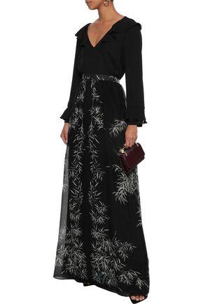 8df453ee92 PHILOSOPHY di LORENZO SERAFINI Printed silk-chiffon maxi skirt