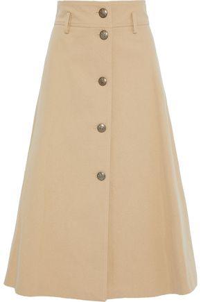 PHILOSOPHY di LORENZO SERAFINI Flared cotton-blend twill midi skirt