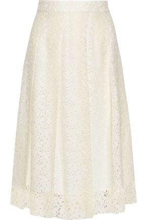 PHILOSOPHY di LORENZO SERAFINI Pleated cotton-blend lace midi skirt