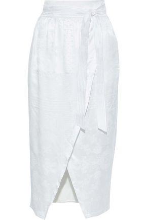 PHILOSOPHY di LORENZO SERAFINI Wrap-effect silk-jacquard midi skirt