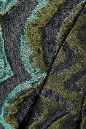ALBERTA FERRETTI Satin-cloqué maxi skirt