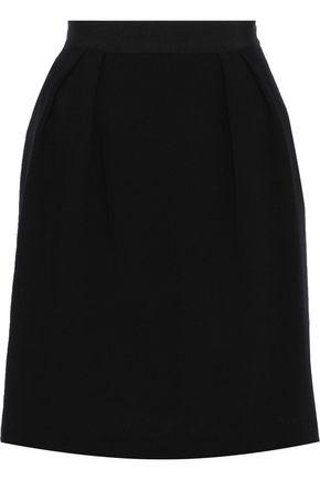 ALBERTA FERRETTI Pleated wool-crepe skirt