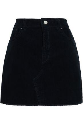 DL1961 Georgia frayed stretch-corduroy mini skirt