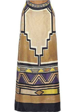 ALBERTA FERRETTI Printed silk-faille maxi skirt