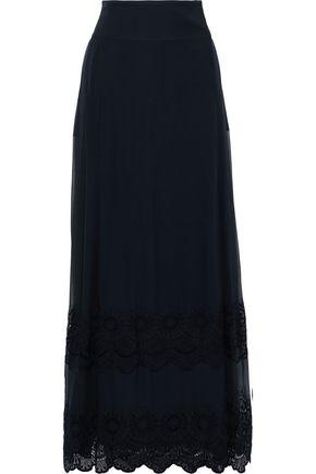 ALBERTA FERRETTI Embroidered silk-blend maxi skirt