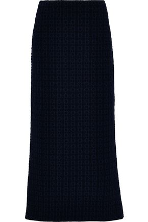 JIL SANDER Wool-blend cloqué midi skirt
