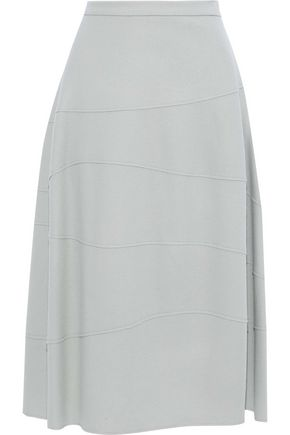 JIL SANDER Flared wool-felt midi skirt