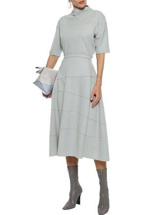 JIL SANDER Flared wool-felt midi skirt