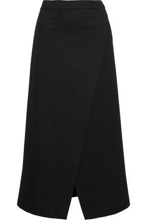 ROSETTA GETTY Wrap-effect cady midi skirt