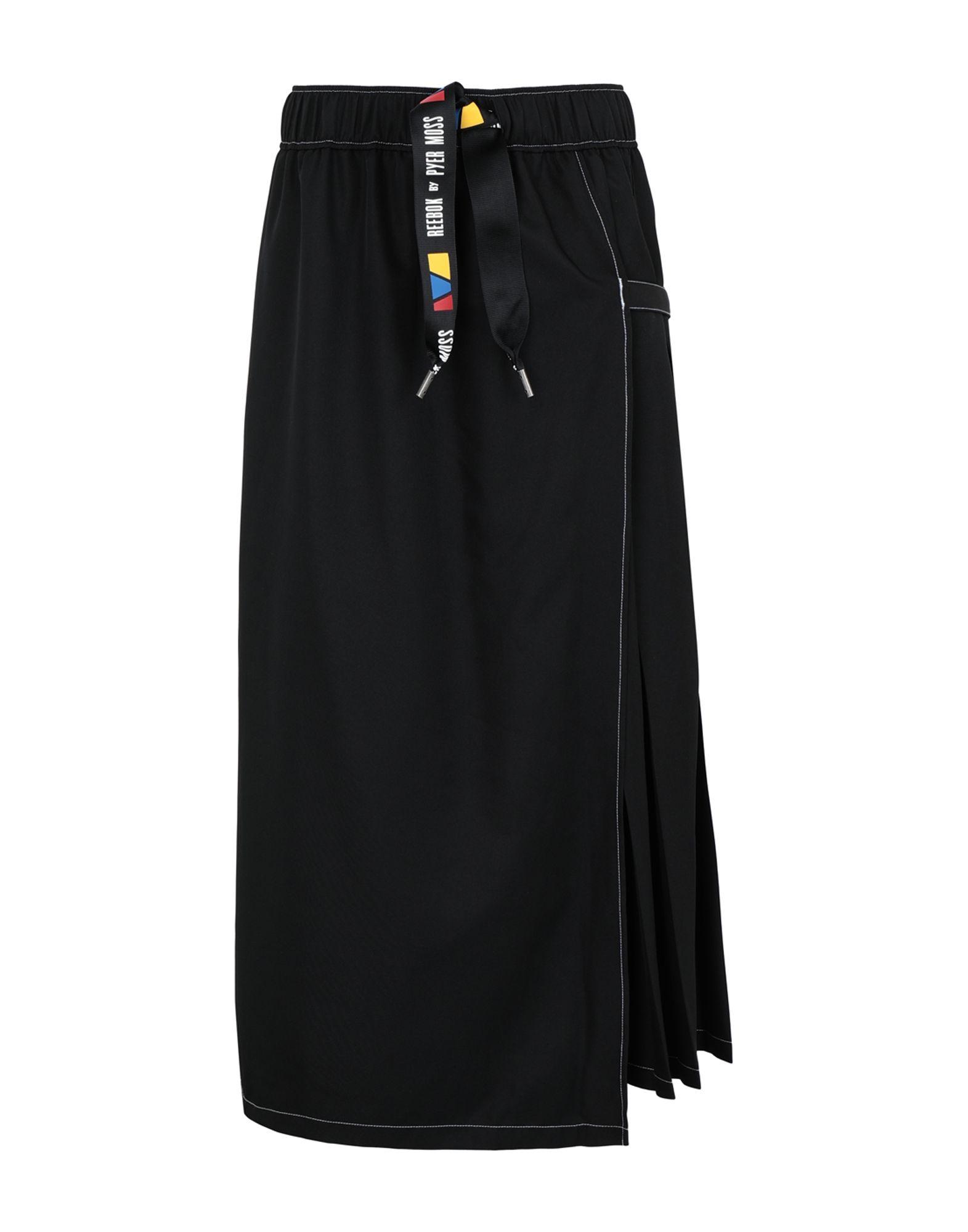 《送料無料》REEBOK x PYER MOSS レディース ロングスカート ブラック XXS ポリエステル 100% RCxPM RING SKIRT