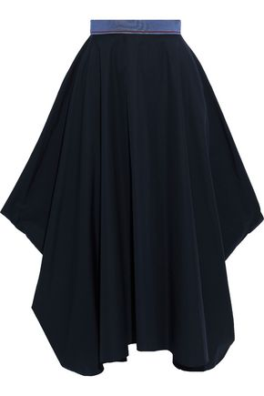 ROKSANDA Asymmetric cotton-poplin midi skirt