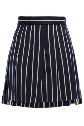 THOM BROWNE Wool and cotton-blend jacquard mini skirt