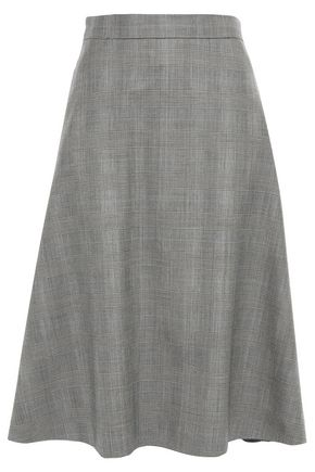 THOM BROWNE Lace-up Prince of Wales checked wool skirt
