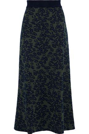 SONIA RYKIEL Metallic jacquard-knit maxi skirt