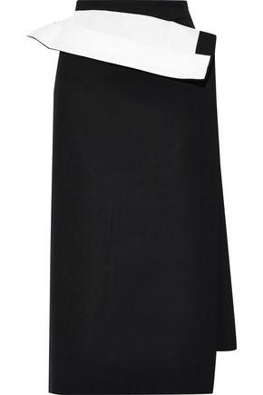 PUSHBUTTON Layered wool-blend midi skirt