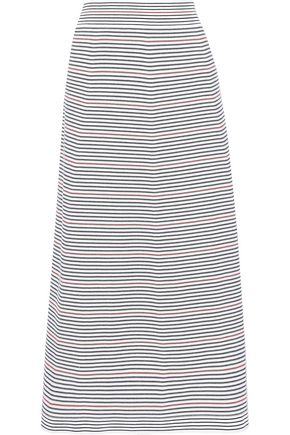 SONIA RYKIEL Striped ponte midi skirt