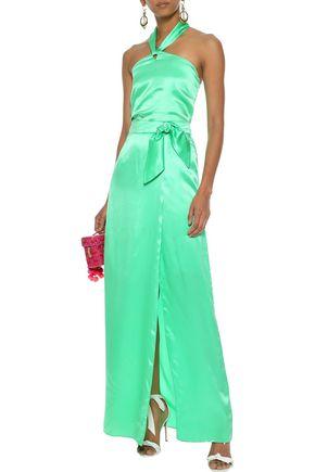 ISOLDA Gilda wrap-effect silk-satin maxi skirt