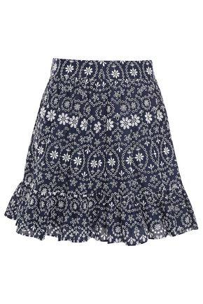 KATE SPADE New York ラッフルトリム イギリス刺繍入り コットン ミニスカート