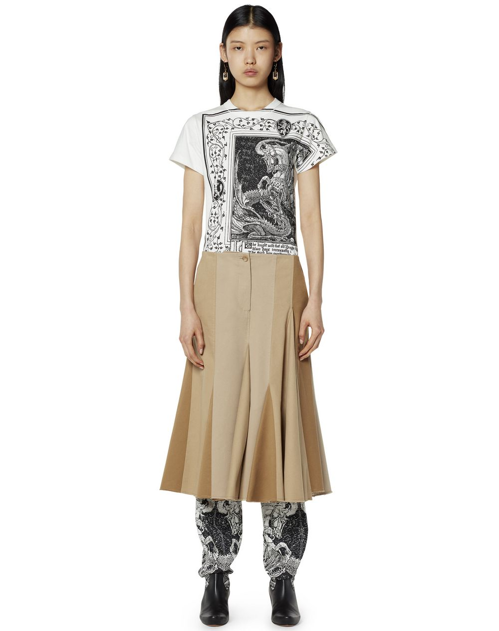 PLEATED COTTON SKIRT - Lanvin