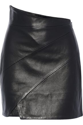 MICHELLE MASON Leather mini skirt