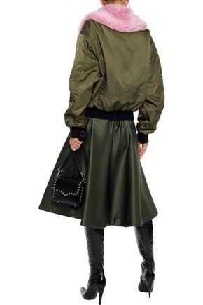 MSGM Flared satin skirt
