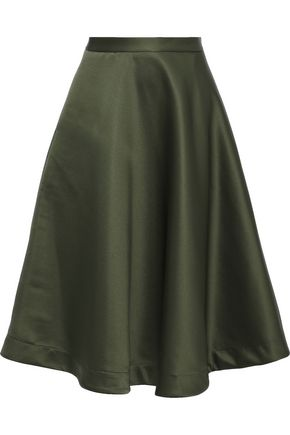 MSGM Flared satin skirt
