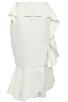 RACHEL GILBERT Adelaide fluted layered cady midi skirt